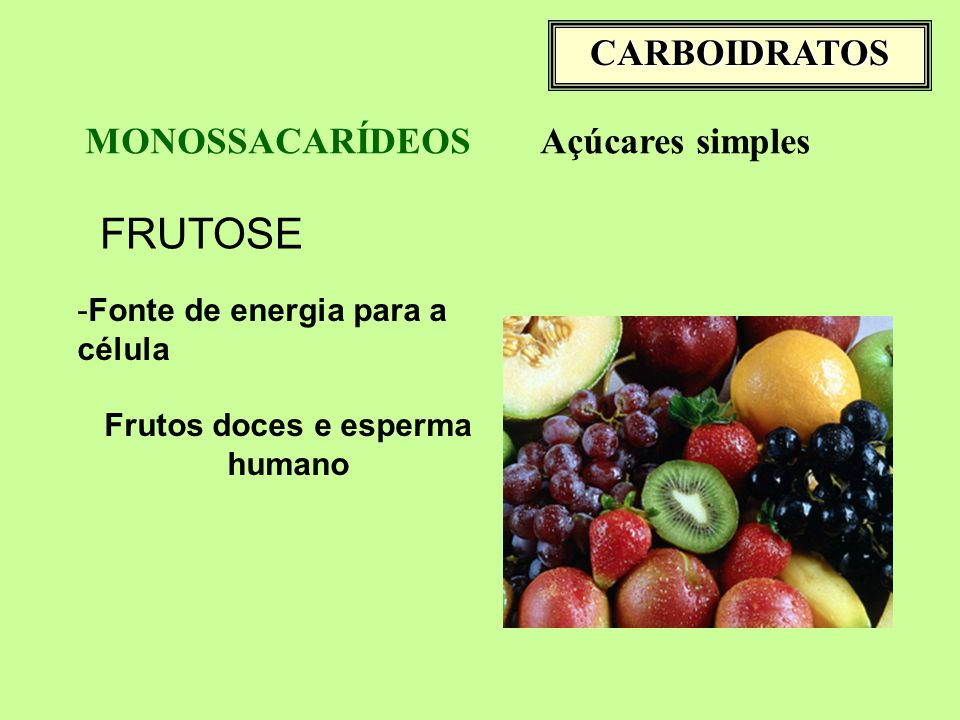 Frutos doces e esperma humano