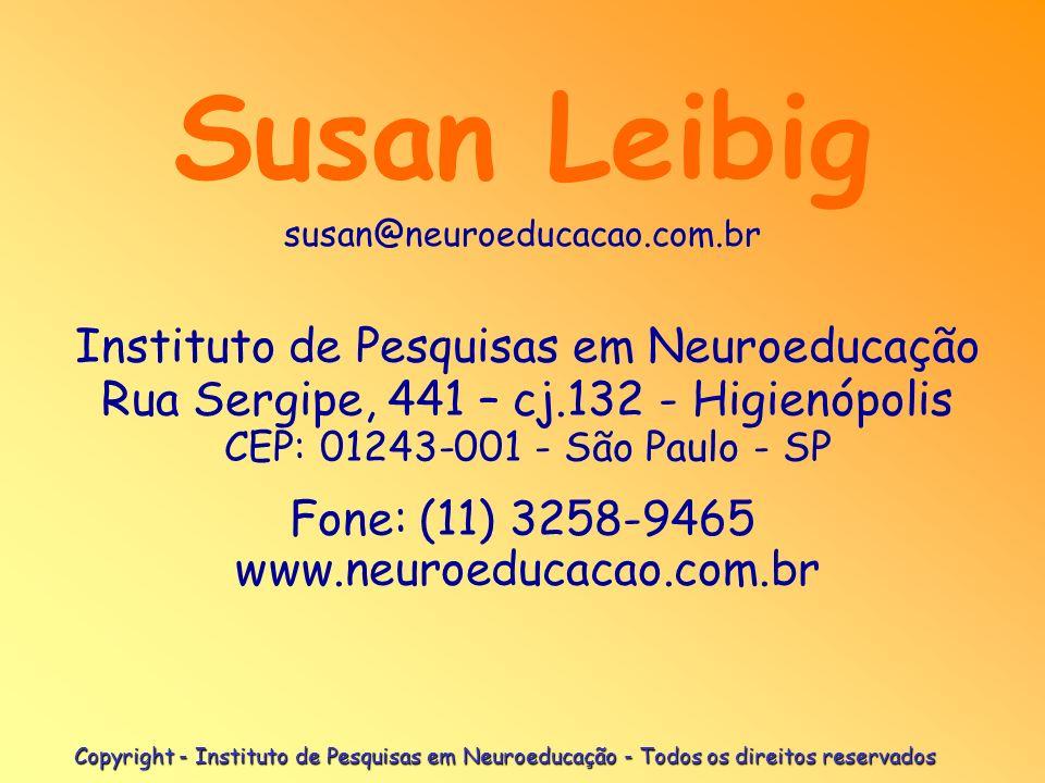 Fone: (11) 3258-9465 www.neuroeducacao.com.br