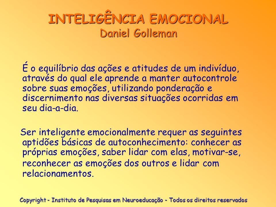 INTELIGÊNCIA EMOCIONAL Daniel Golleman