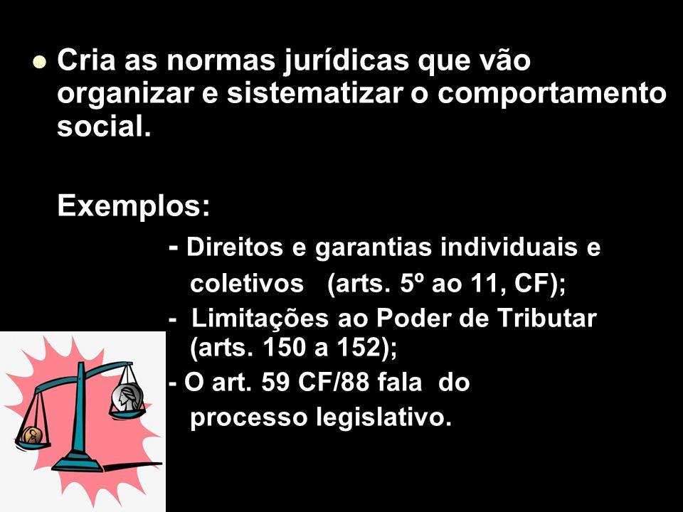 - Direitos e garantias individuais e
