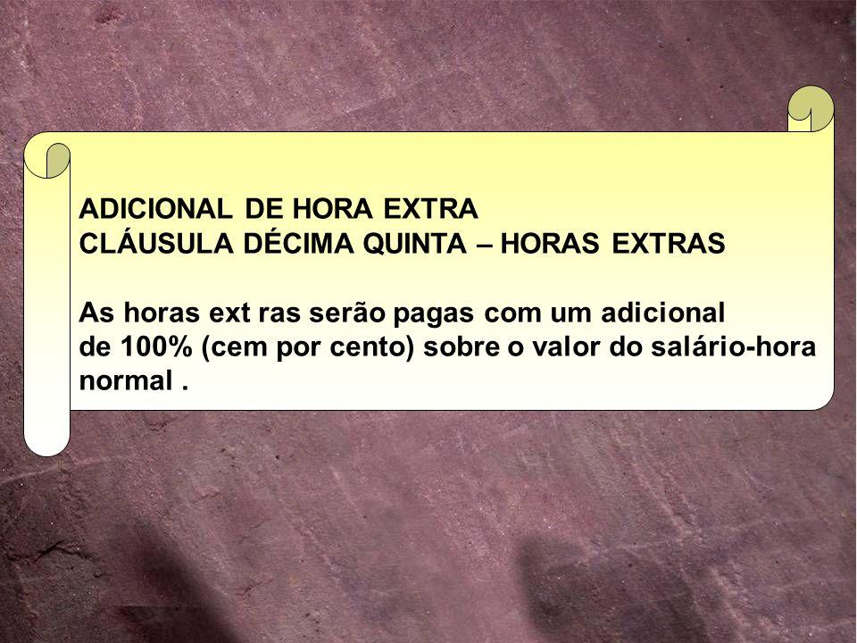 ADICIONAL DE HORA EXTRA