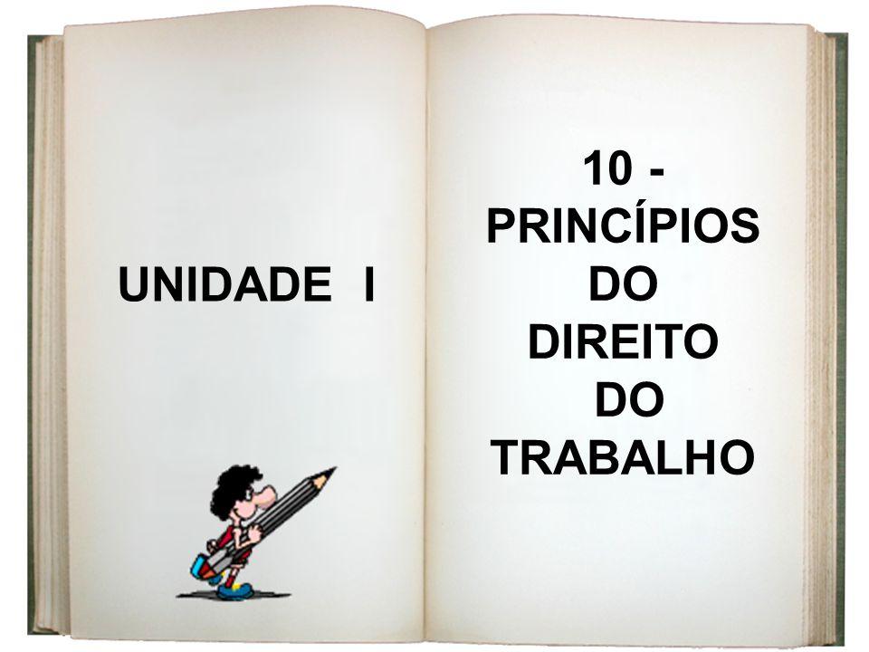 10 -PRINCÍPIOS DO DIREITO DO TRABALHO