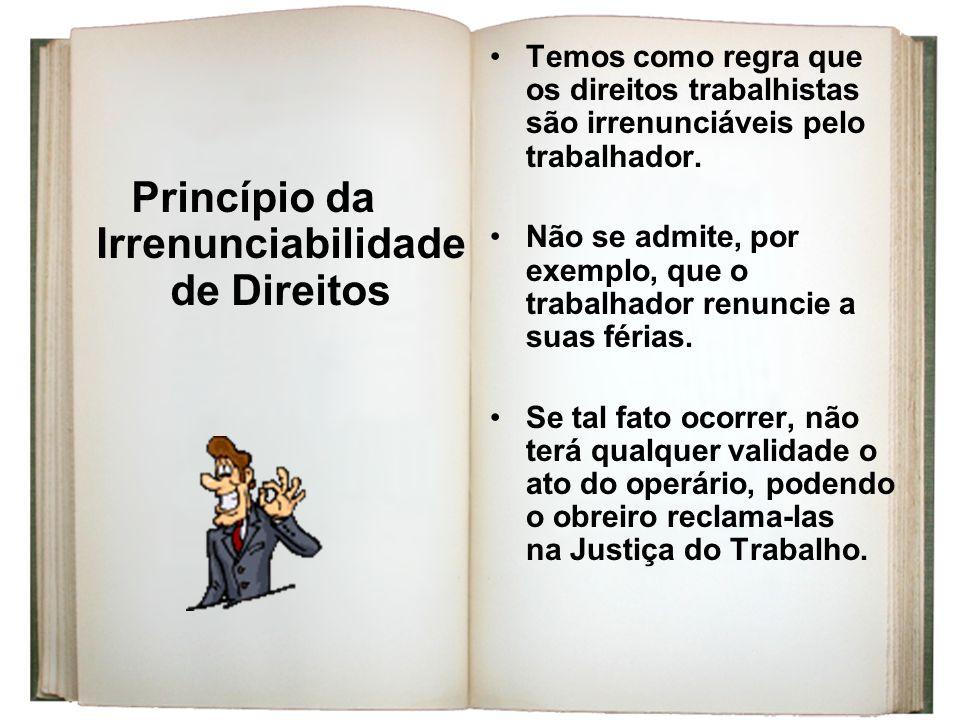 Princípio da Irrenunciabilidade de Direitos
