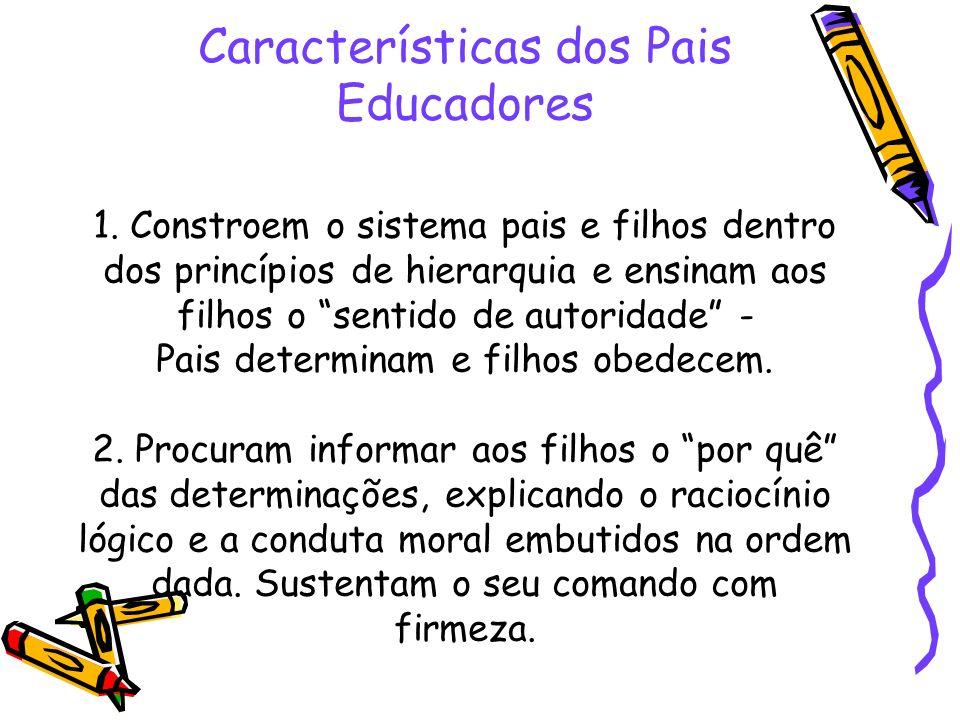 Características dos Pais Educadores 1
