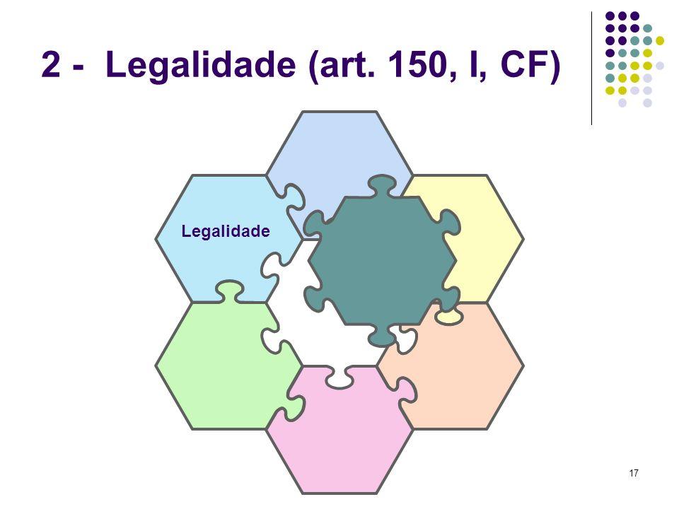 2 - Legalidade (art. 150, I, CF) Legalidade