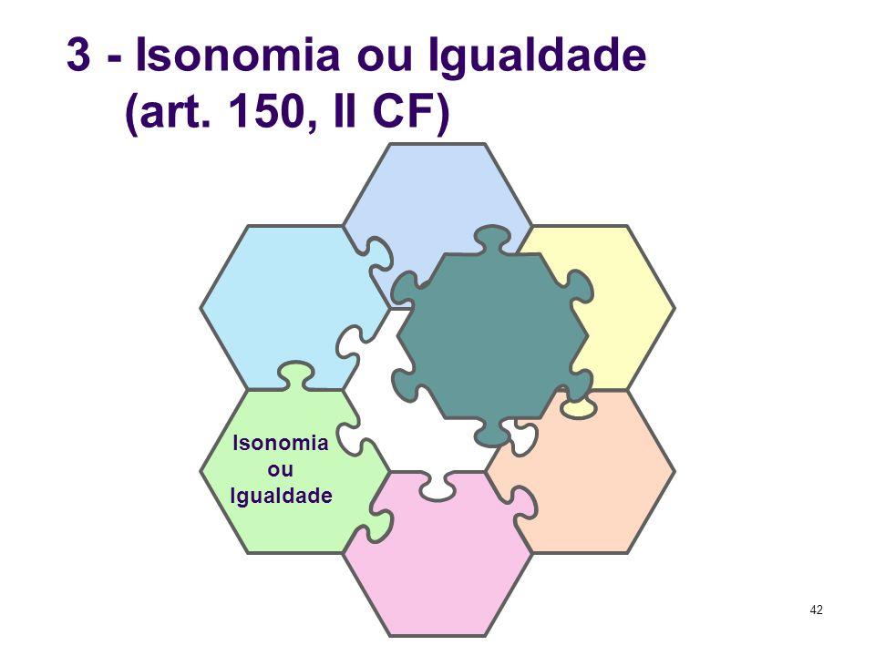 3 - Isonomia ou Igualdade (art. 150, II CF)