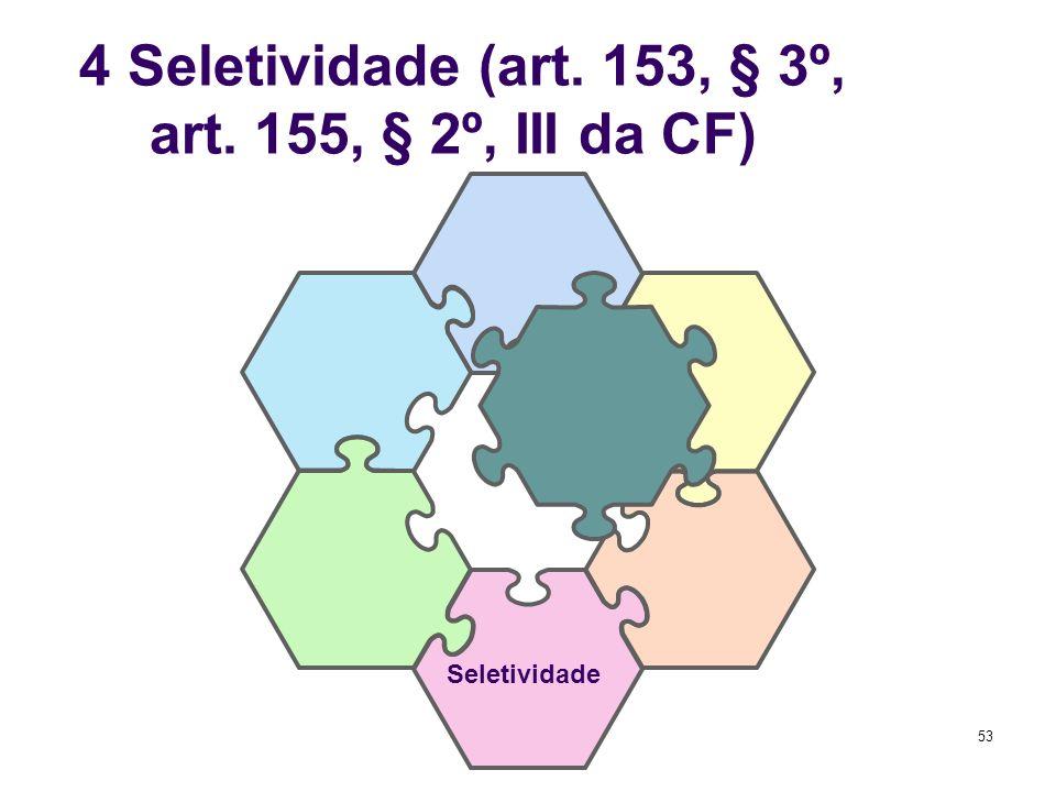 4 Seletividade (art. 153, § 3º, I; art. 155, § 2º, III da CF)
