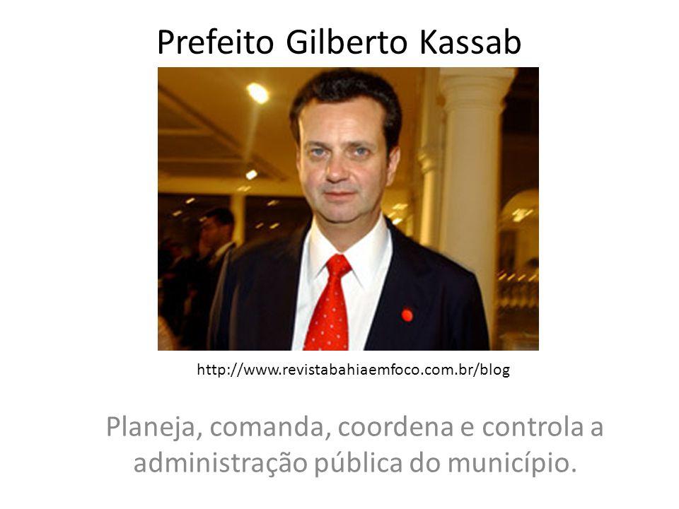 Prefeito Gilberto Kassab