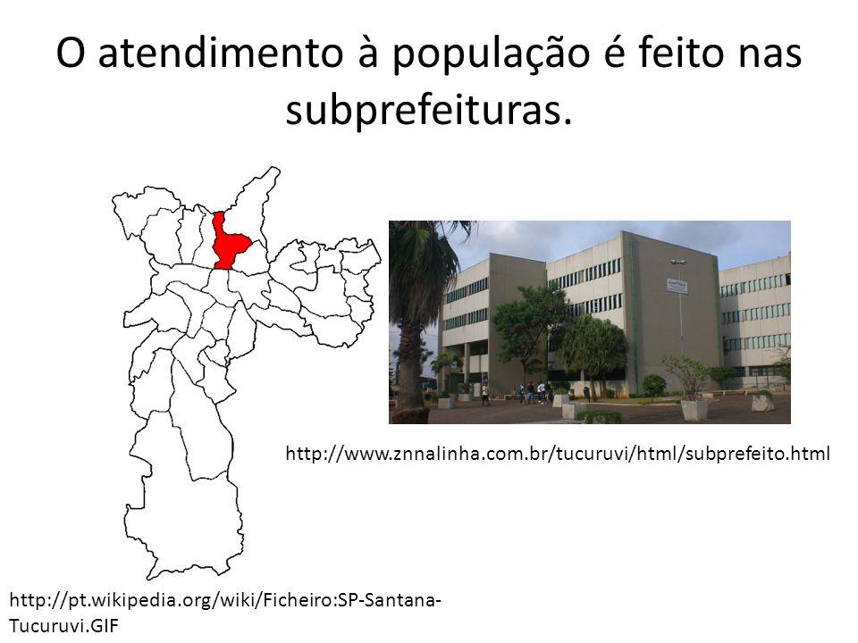 O atendimento à população é feito nas subprefeituras.