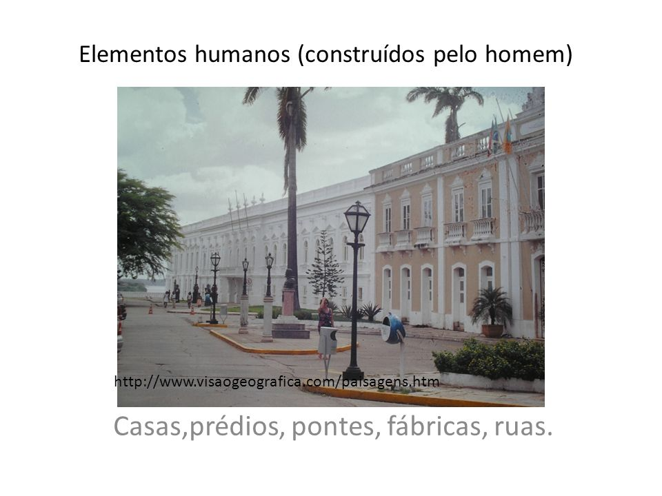 Elementos humanos (construídos pelo homem)