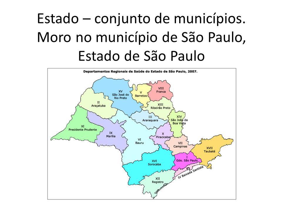 Estado – conjunto de municípios