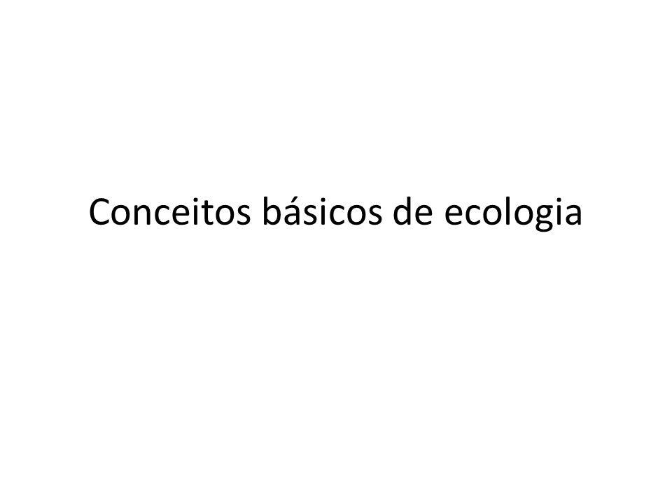 Conceitos básicos de ecologia