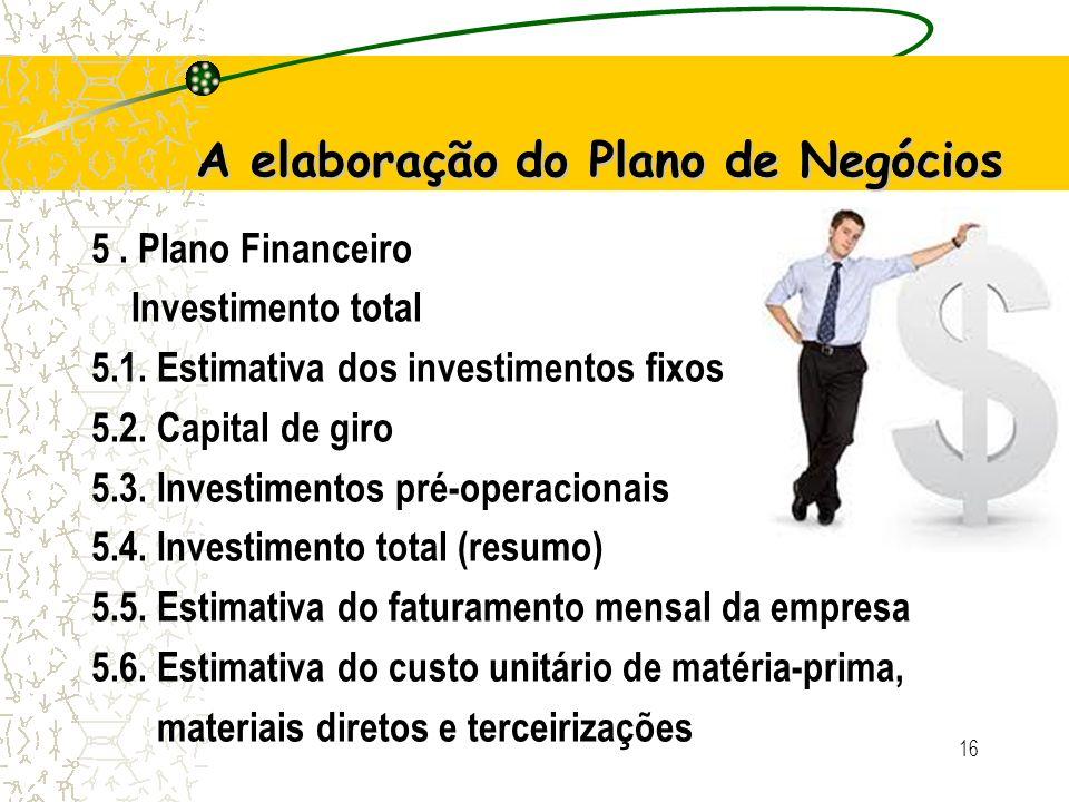 A elaboração do Plano de Negócios