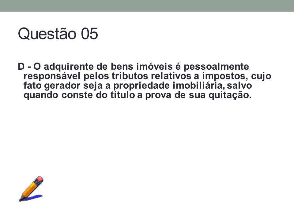 Questão 05