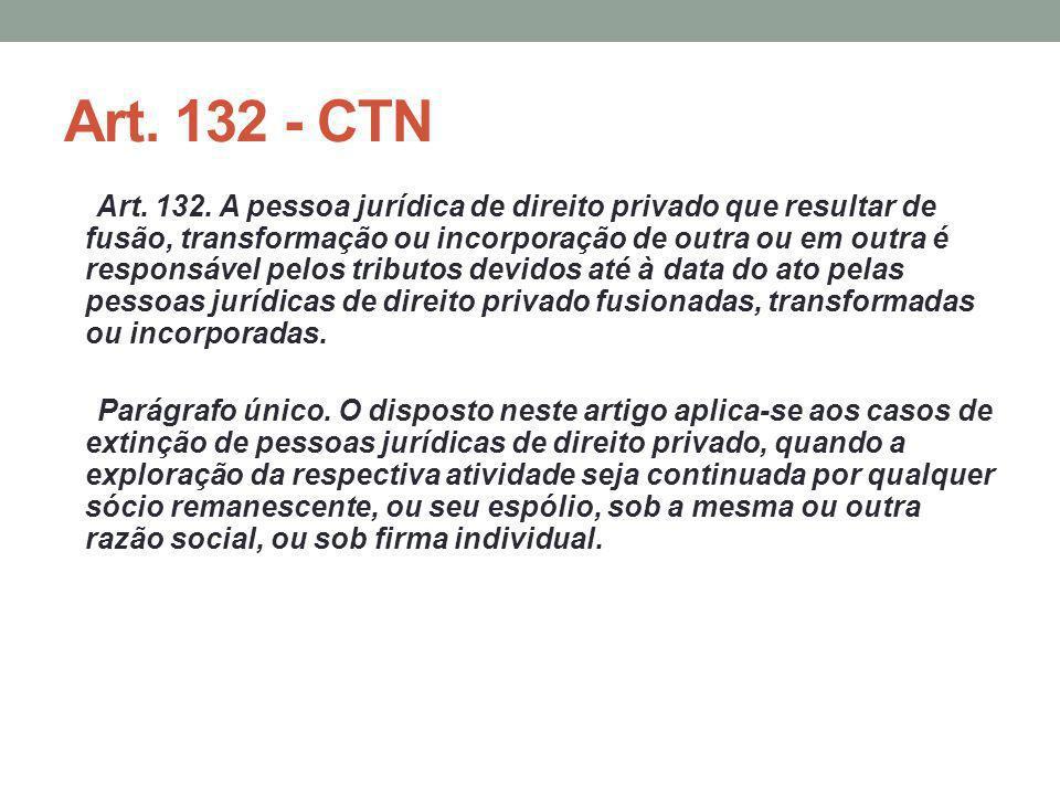 Art. 132 - CTN