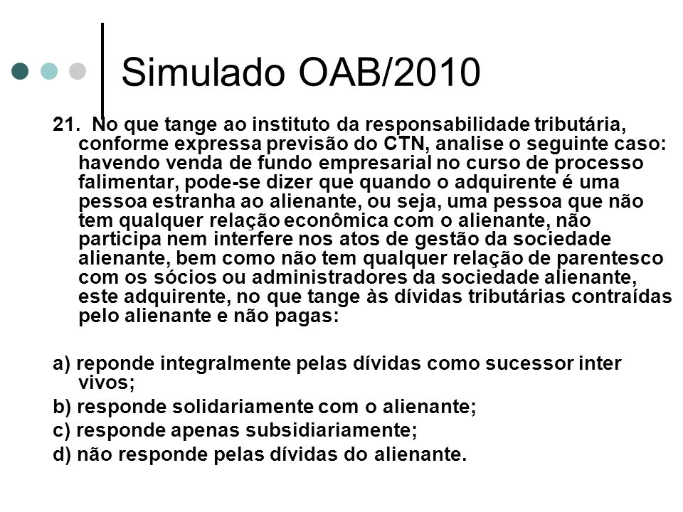 Simulado OAB/2010