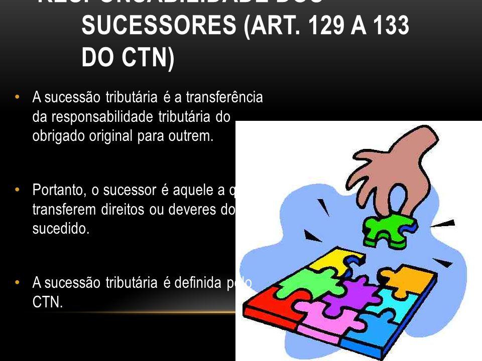 Responsabilidade dos Sucessores (art. 129 a 133 do CTN)
