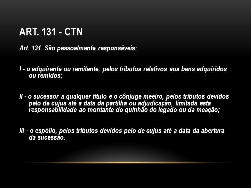 Art. 131 - CTN