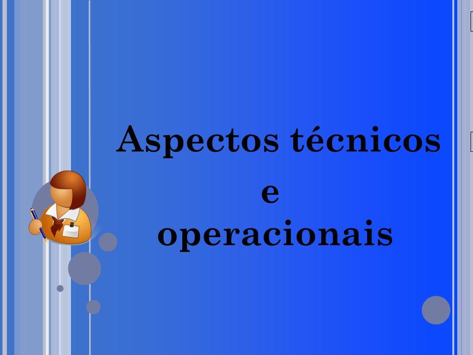 20/05/09 Aspectos técnicos e operacionais