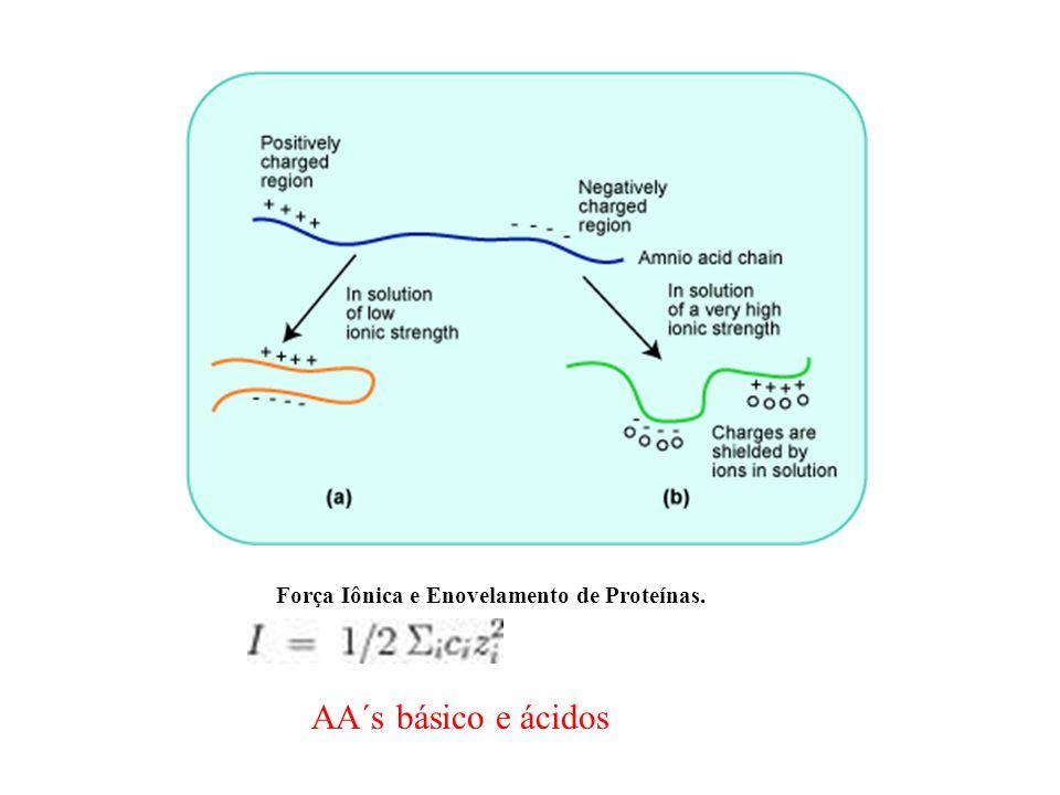 Força Iônica e Enovelamento de Proteínas.
