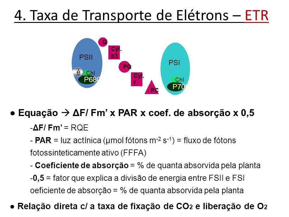 4. Taxa de Transporte de Elétrons – ETR