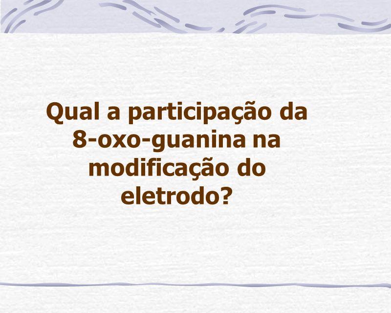 Qual a participação da 8-oxo-guanina na modificação do eletrodo