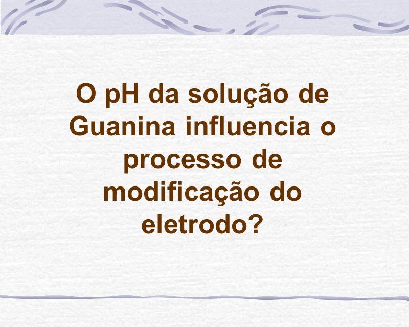 O pH da solução de Guanina influencia o processo de modificação do eletrodo