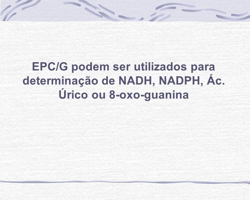EPC/G podem ser utilizados para determinação de NADH, NADPH, Ác