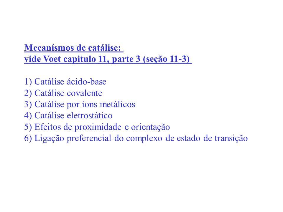 Mecanísmos de catálise: