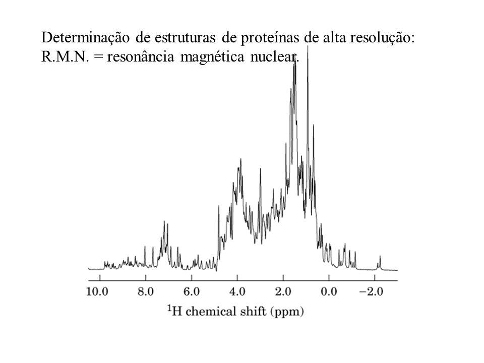 Determinação de estruturas de proteínas de alta resolução: