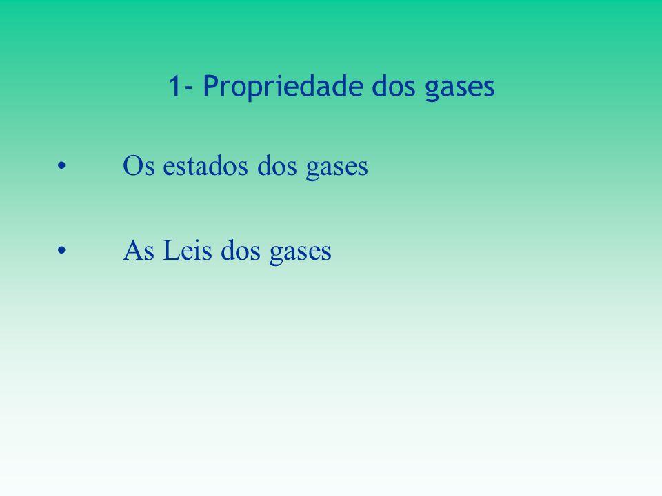 1- Propriedade dos gases