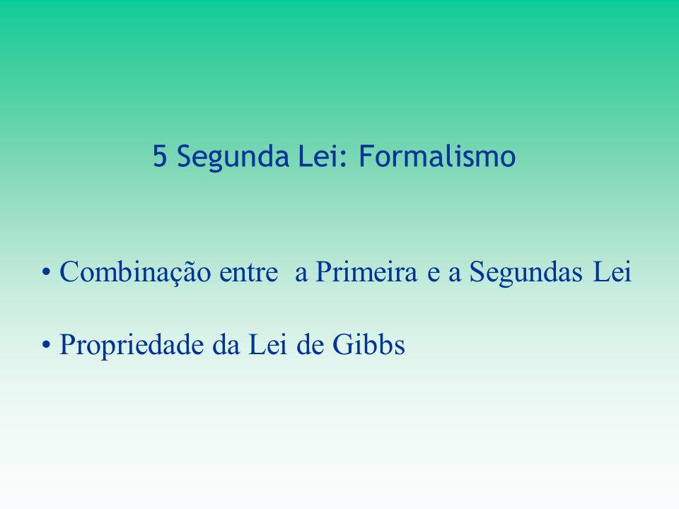 5 Segunda Lei: Formalismo