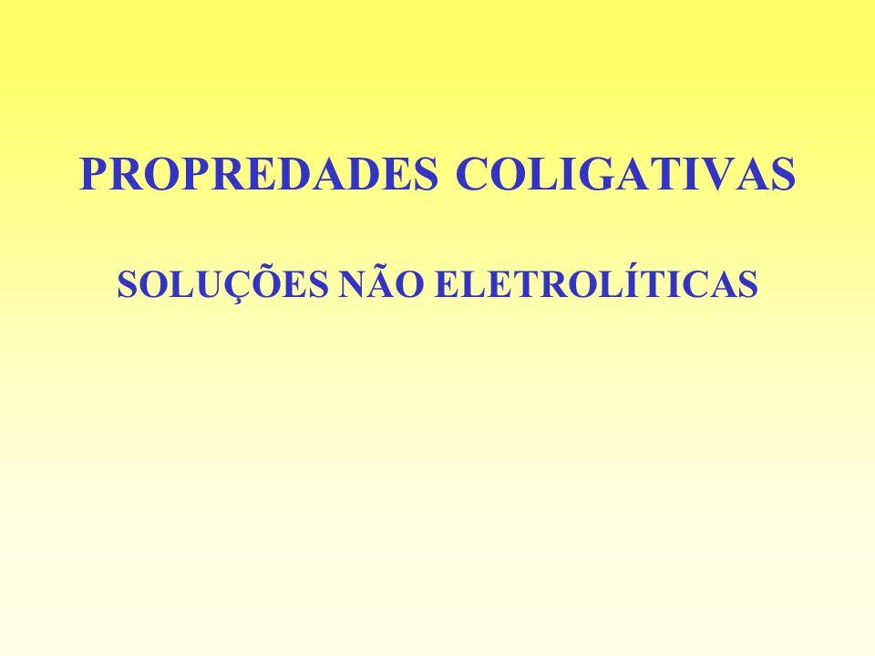 PROPREDADES COLIGATIVAS