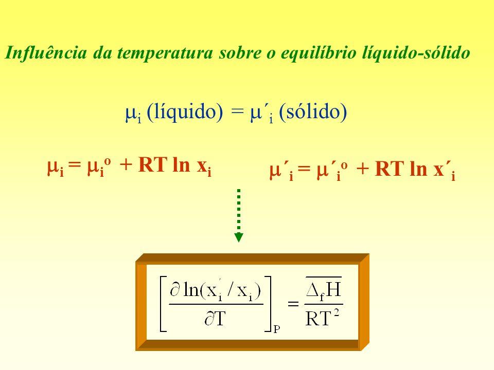 mi (líquido) = m´i (sólido)
