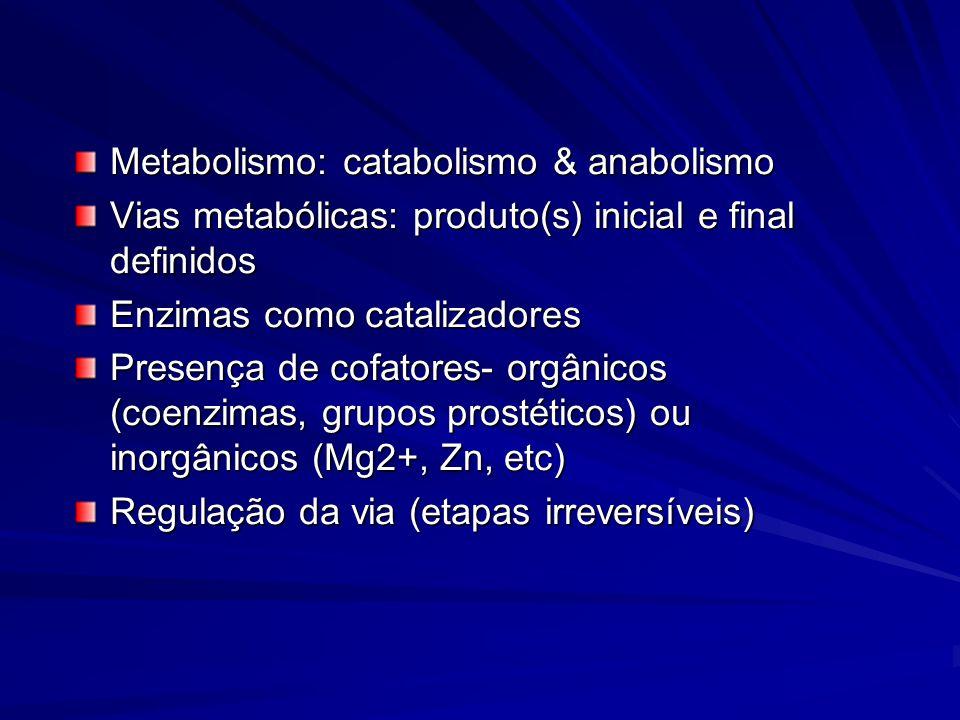 Metabolismo: catabolismo & anabolismo