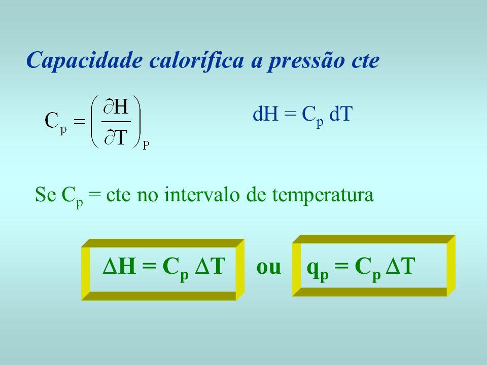 Capacidade calorífica a pressão cte
