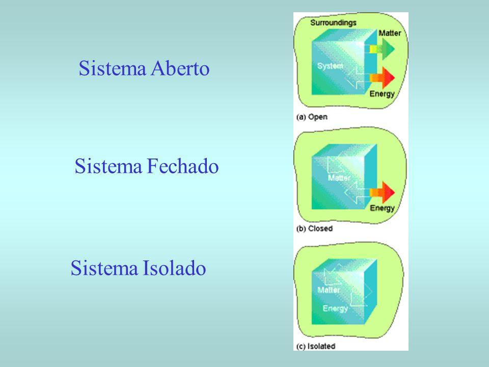Sistema Aberto Sistema Fechado Sistema Isolado