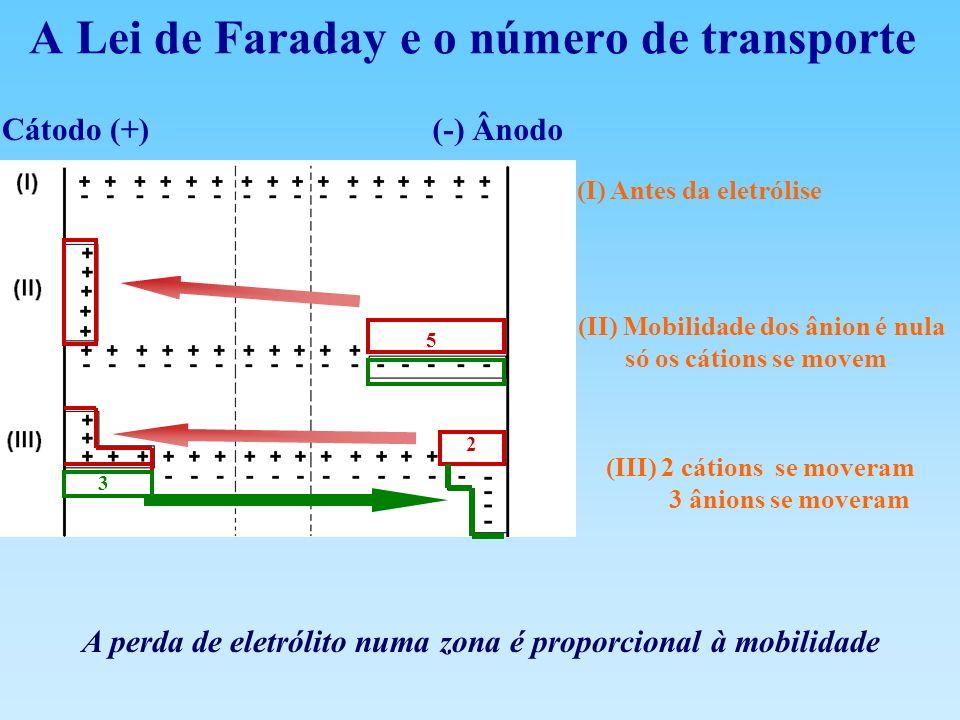A Lei de Faraday e o número de transporte