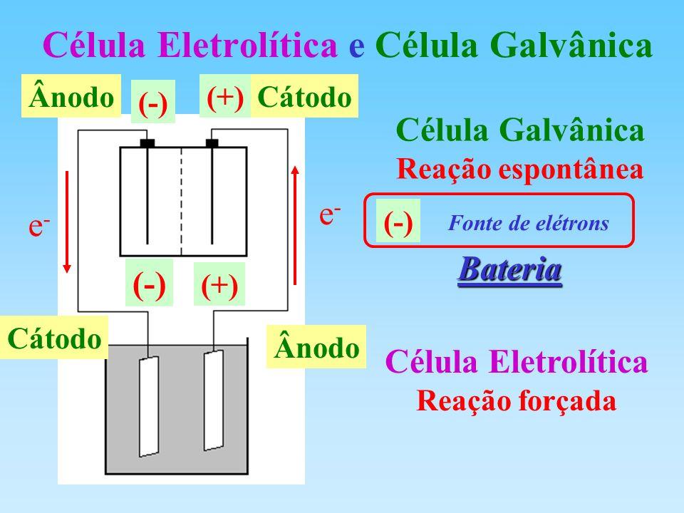Célula Eletrolítica e Célula Galvânica