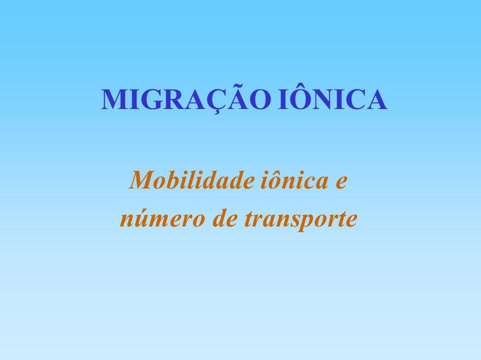 Mobilidade iônica e número de transporte