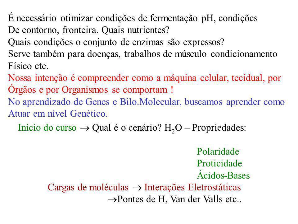 É necessário otimizar condições de fermentação pH, condições