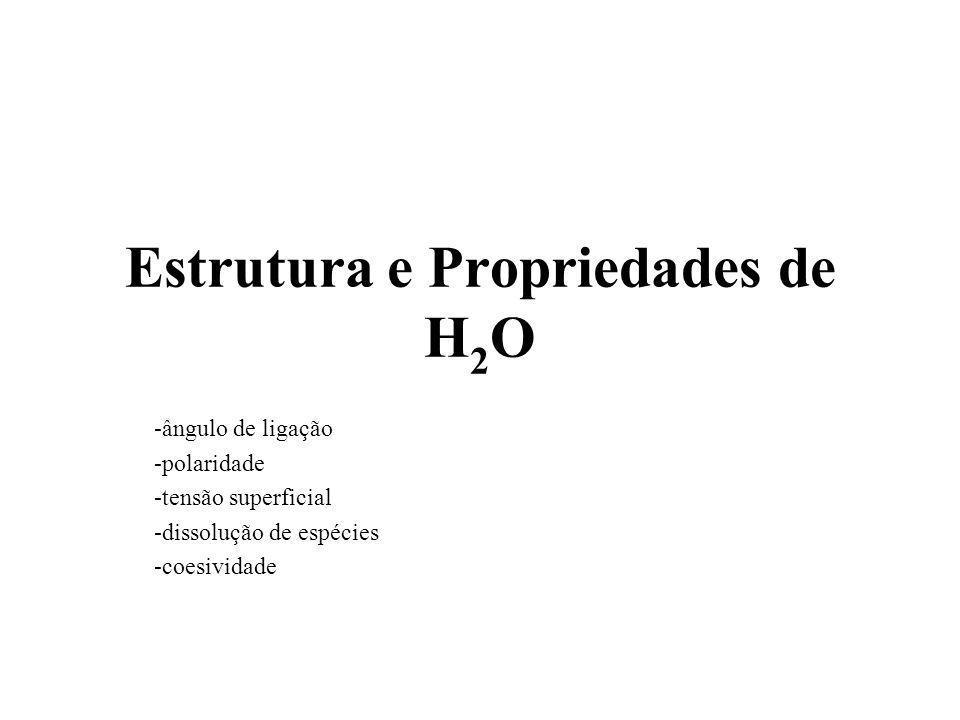 Estrutura e Propriedades de H2O