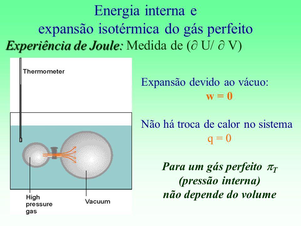 Energia interna e expansão isotérmica do gás perfeito