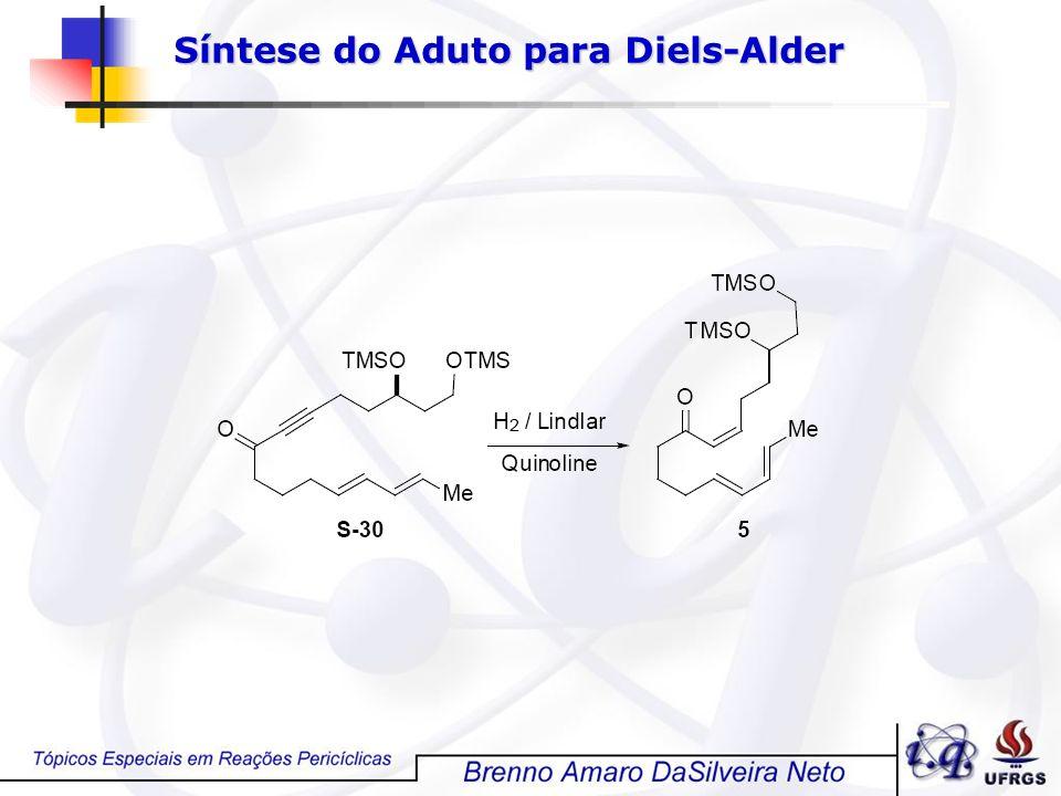 Síntese do Aduto para Diels-Alder