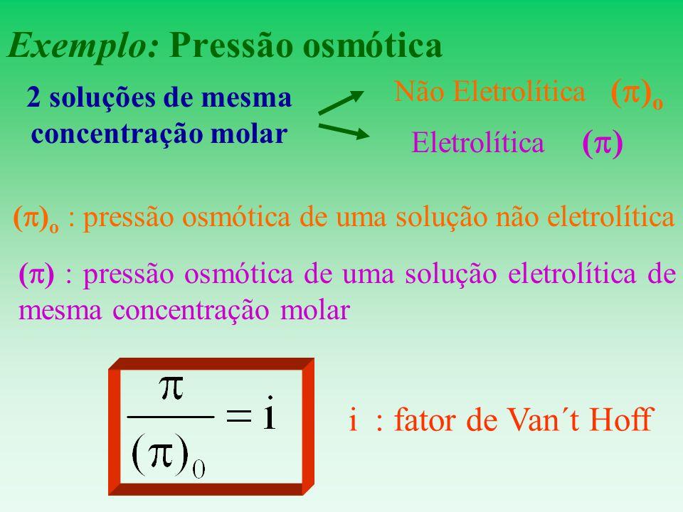 Exemplo: Pressão osmótica