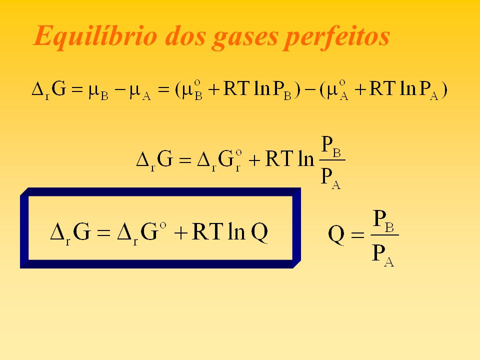 Equilíbrio dos gases perfeitos