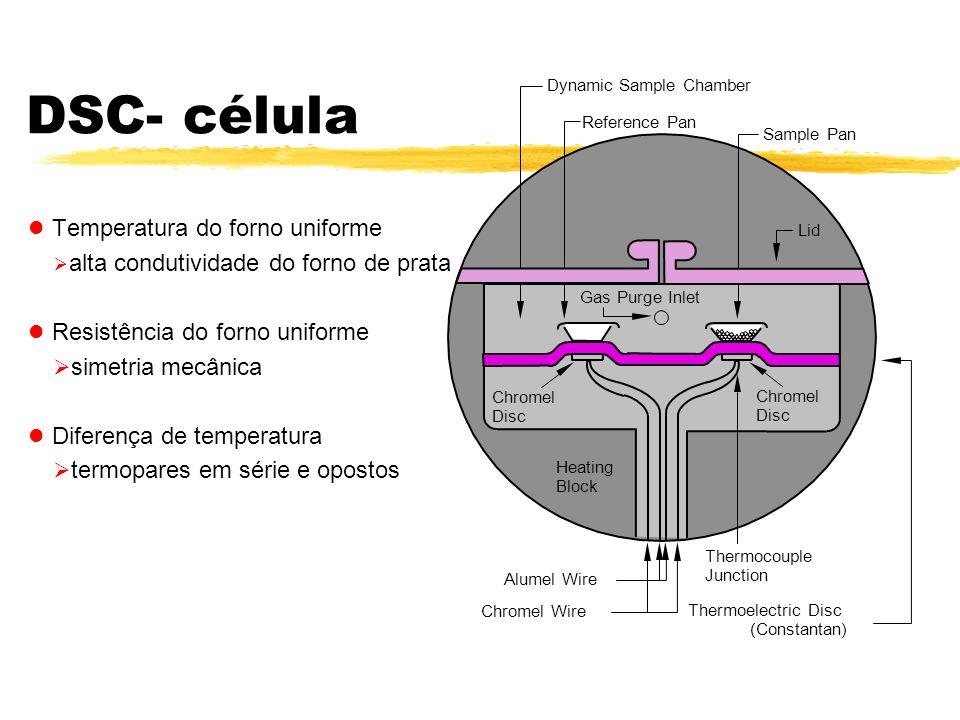 DSC- célula Temperatura do forno uniforme