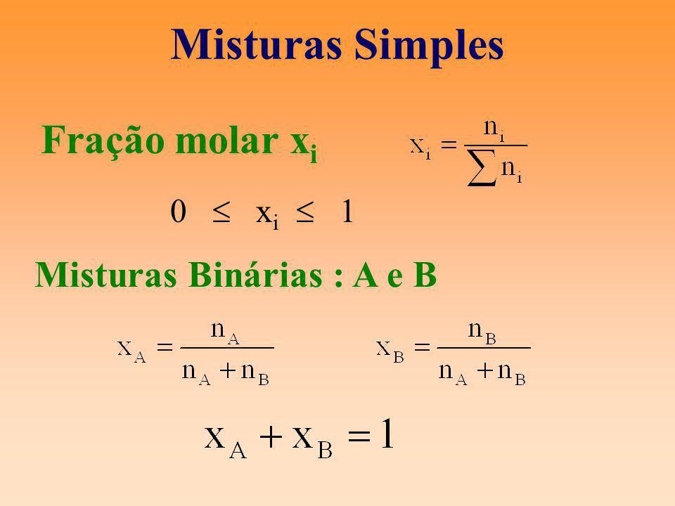 Misturas Binárias : A e B