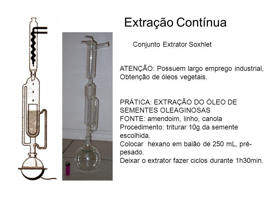 Extração Contínua Conjunto Extrator Soxhlet