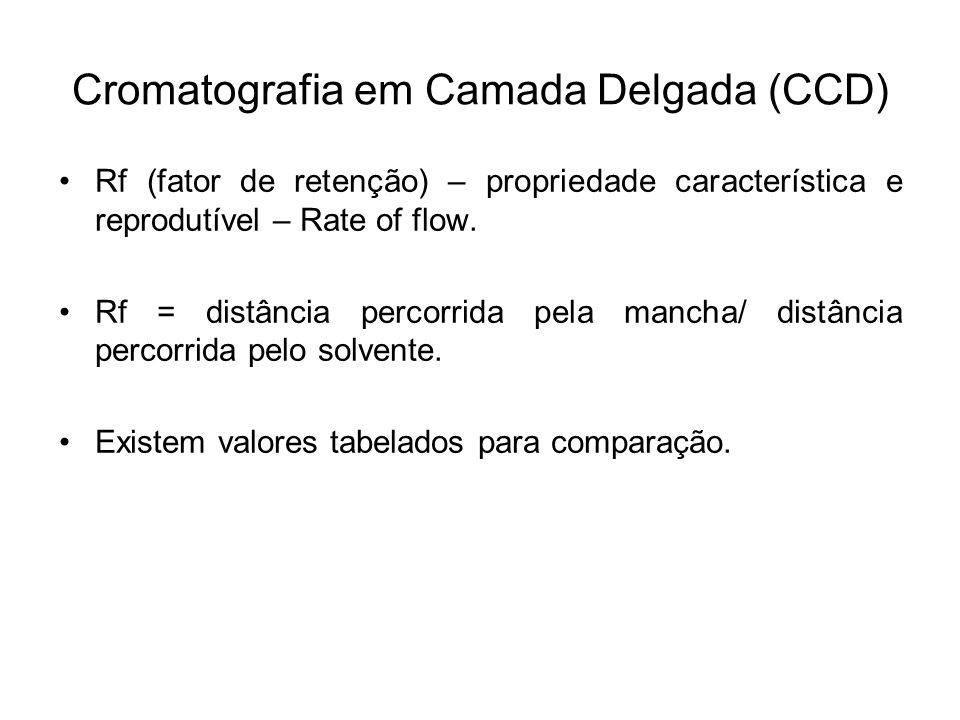 Cromatografia em Camada Delgada (CCD)